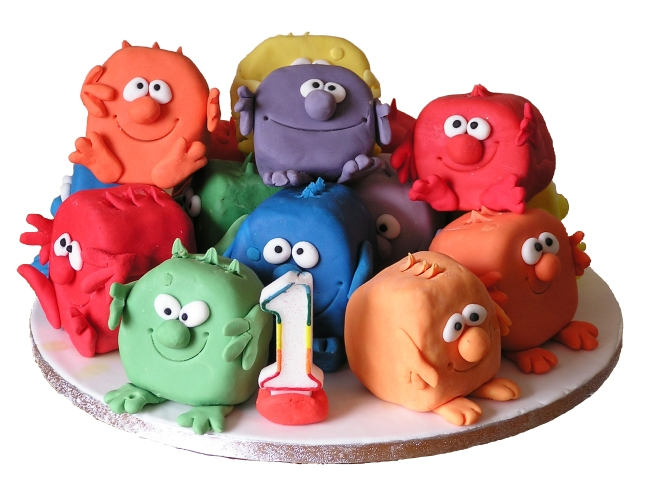 Birthday Cake made of Small Monsters