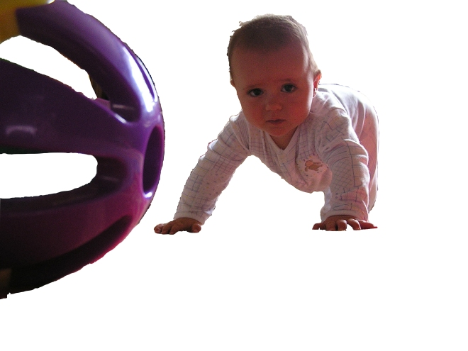 Small crawling and ball