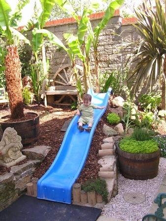 Garden with Slide